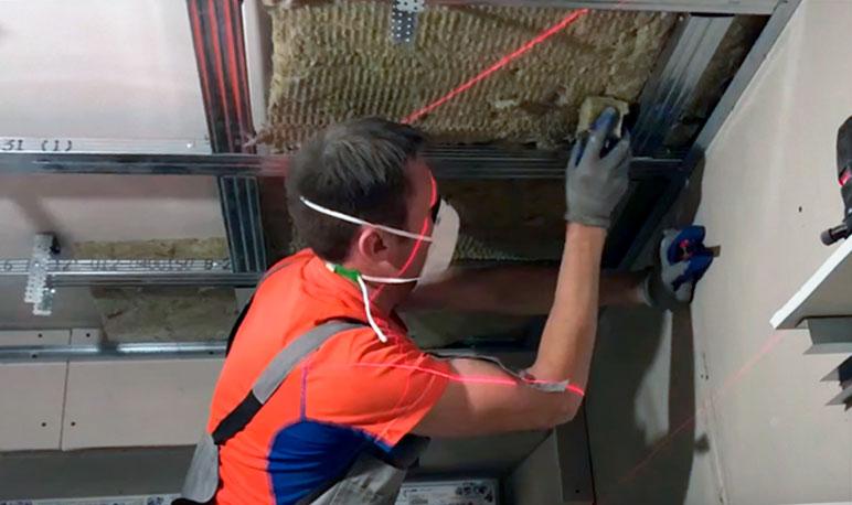 использование минеральных плит для шумоизоляции потолка