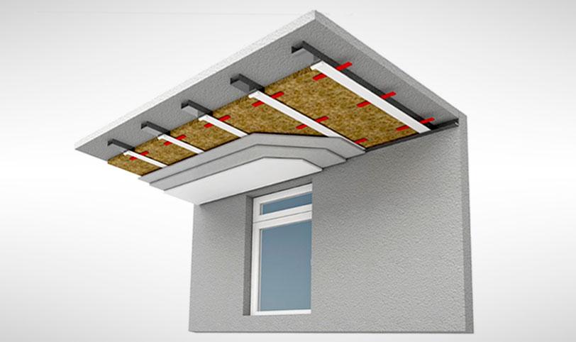 каркасная звукоизоляция потолка в монолитном доме