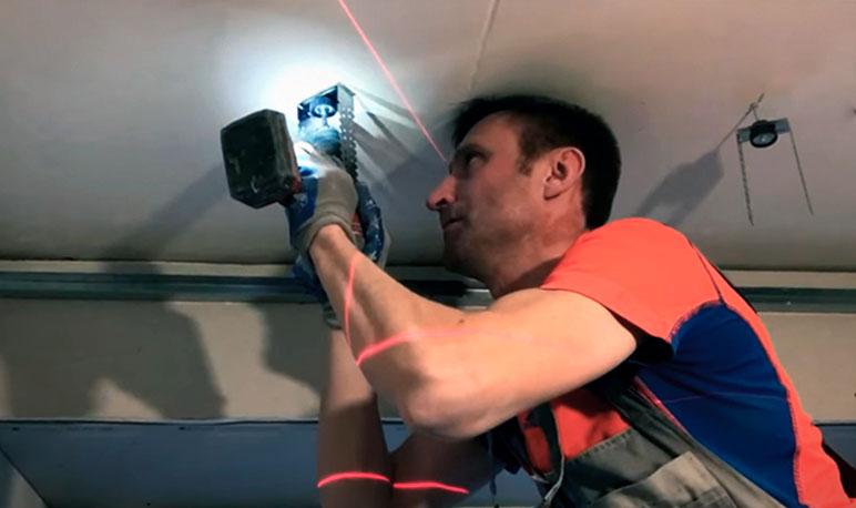 крепление вибпроподвесов при звукоизоляции потолка