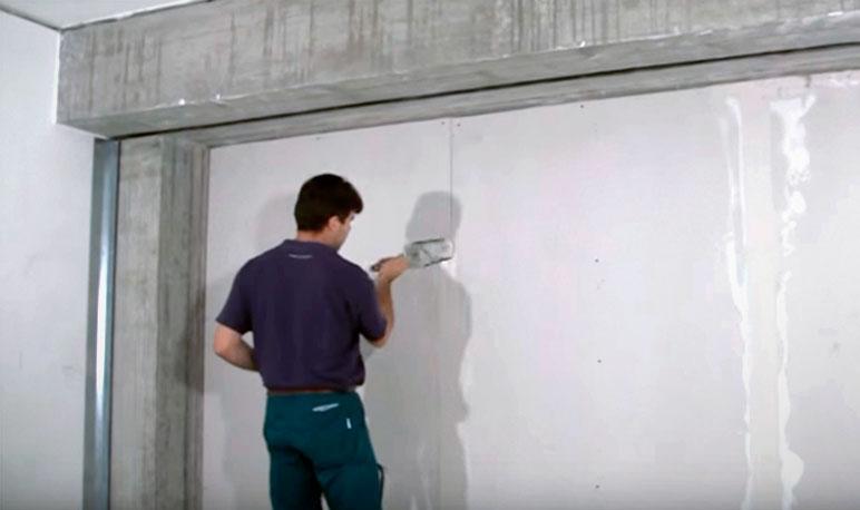 шпаклевка финишного покрытия шумоизоляции стены