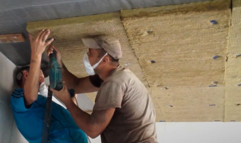 шумоизоляция потолка в панельном доме