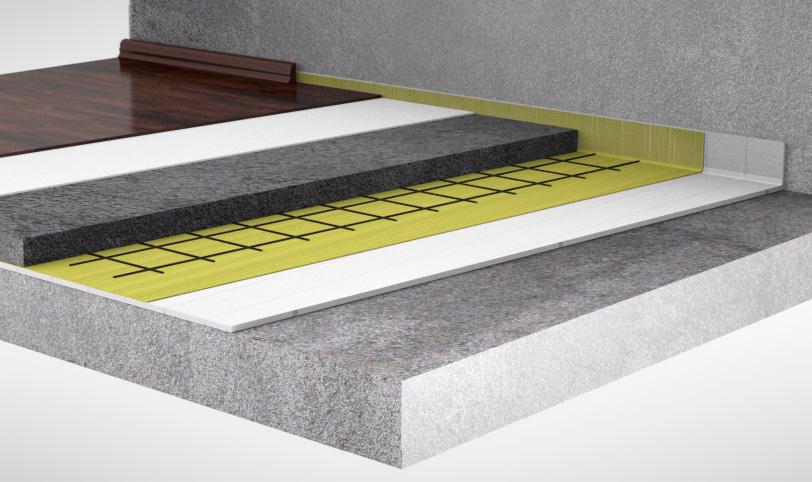 схема плавающей цементной стяжки