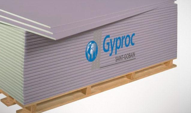 Гипсокартон Гипрок, который применяется в звукоизолирующей перегородке